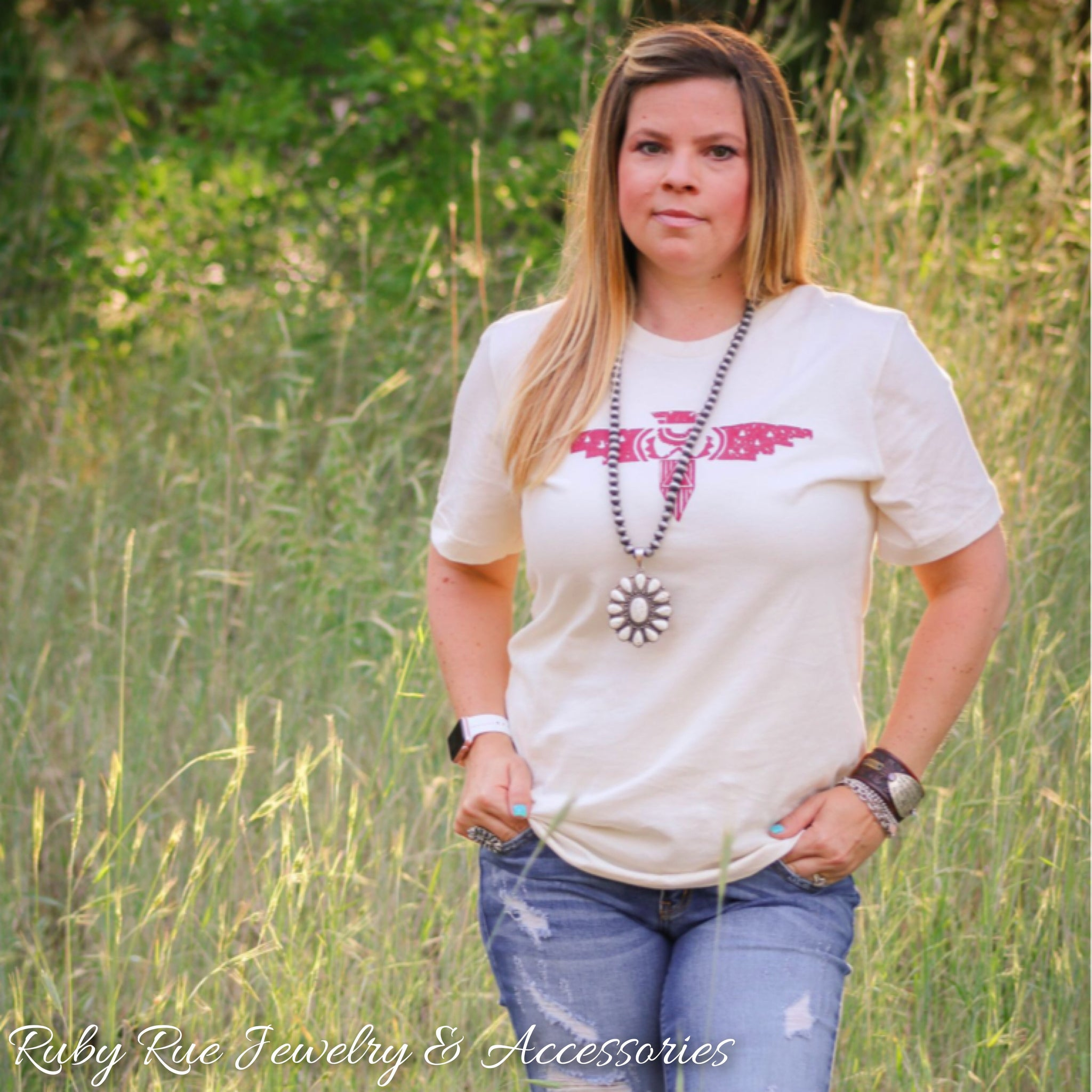 Red Thunderbird Tee - Ruby Rue Jewelry & Accessories
