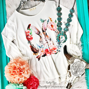 Boho Bunny Long Sleeve - Ruby Rue Jewelry & Accessories