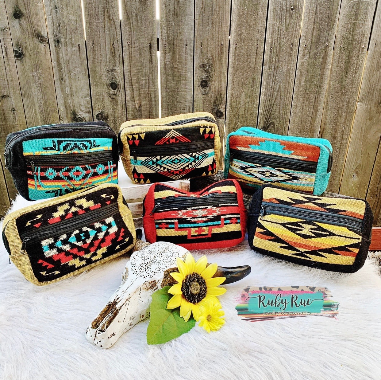 Western Makeup Bags - Ruby Rue Jewelry & Accessories