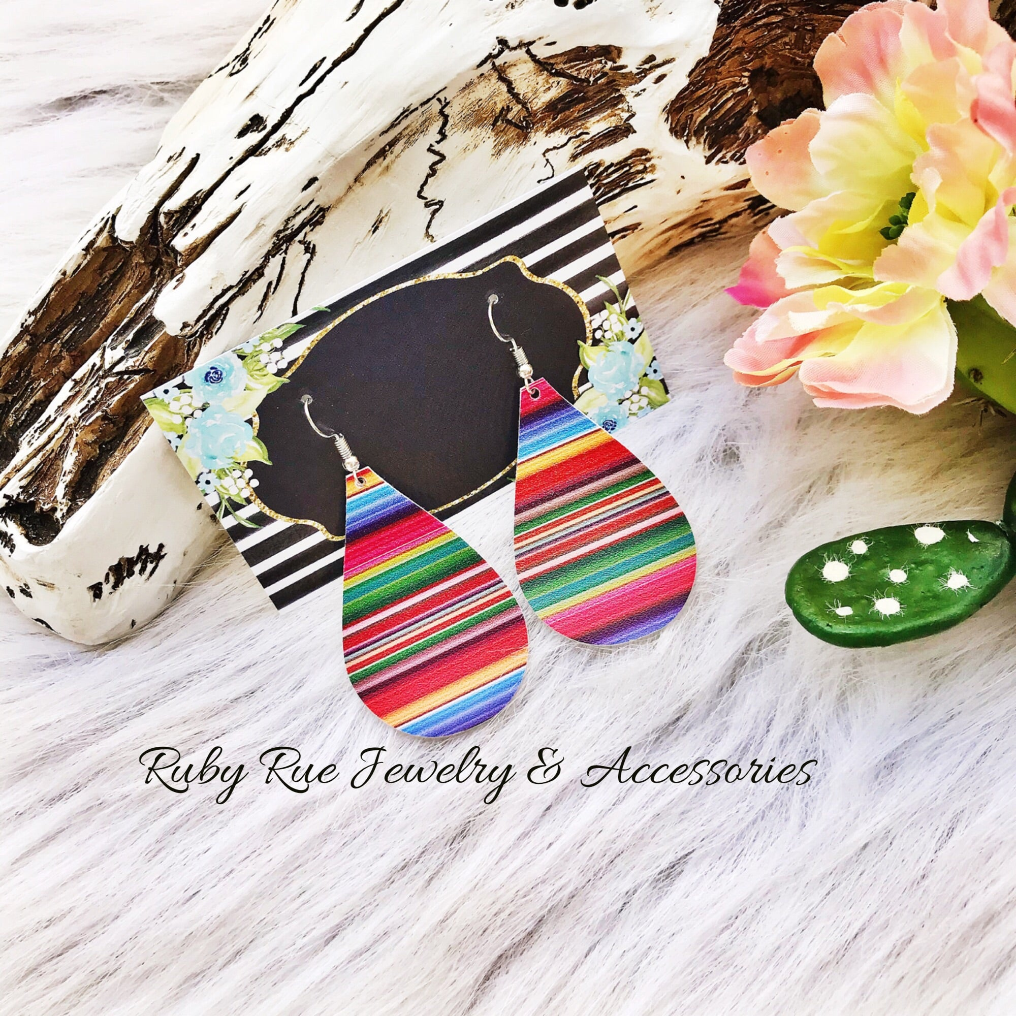 Serape Earrings - Ruby Rue Jewelry & Accessories