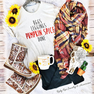 Uggs, Leggings & Pumpkin Spice Tee - Ruby Rue Jewelry & Accessories