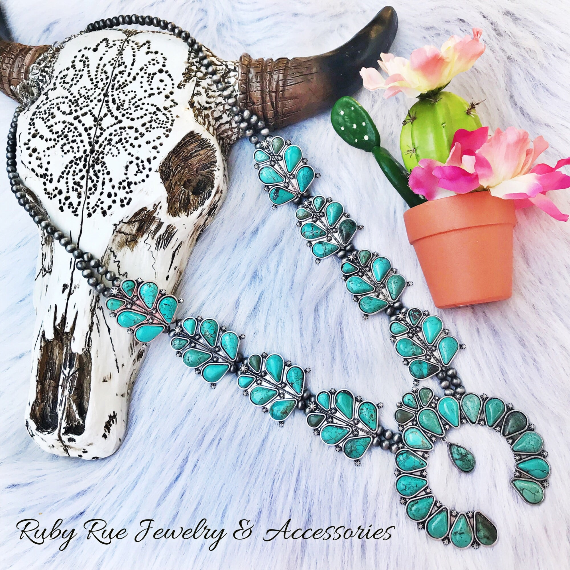 The Hope Turquoise Squash - Ruby Rue Jewelry & Accessories