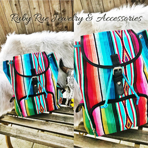 Serape Backpack - Ruby Rue Jewelry & Accessories
