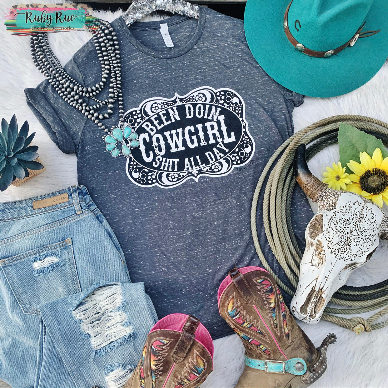 Been Doin Cowgirl Stuff Tee