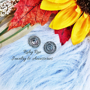 Silver & Rhinestone Earrings - Ruby Rue Jewelry & Accessories