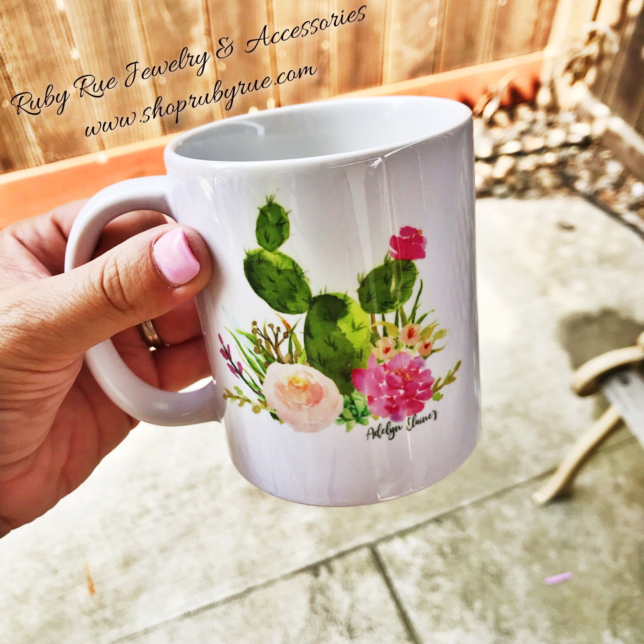 Cacti Lovin' Coffee Mug - Ruby Rue Jewelry & Accessories