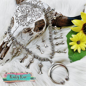 Vintage Inspired Silver Squash Set - Ruby Rue Jewelry & Accessories