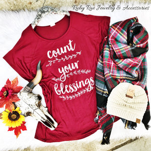 Count Your Blessings Top - Ruby Rue Jewelry & Accessories
