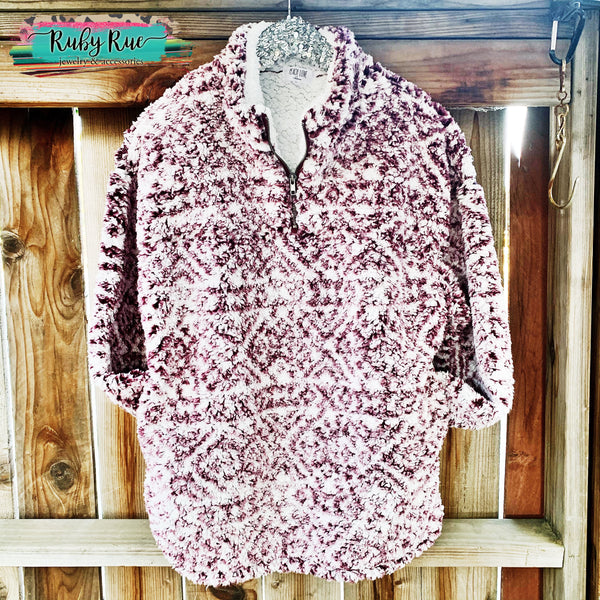 The Adele Aztec Sherpa Pullover - Ruby Rue Jewelry & Accessories