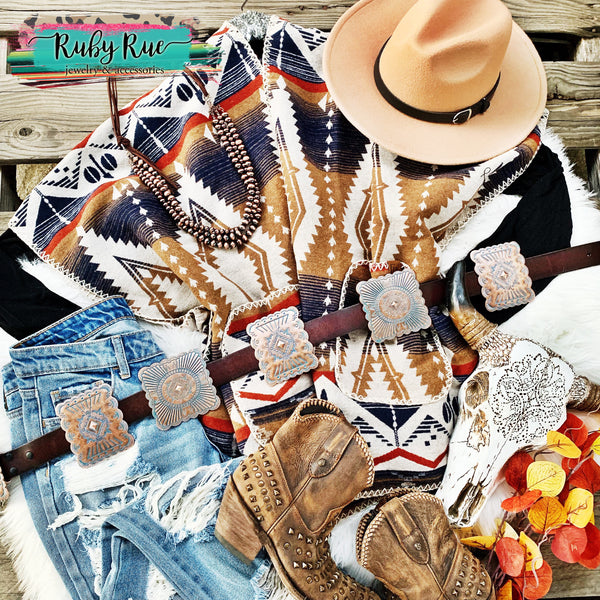 The Tenlee Tribal Poncho - Ruby Rue Jewelry & Accessories