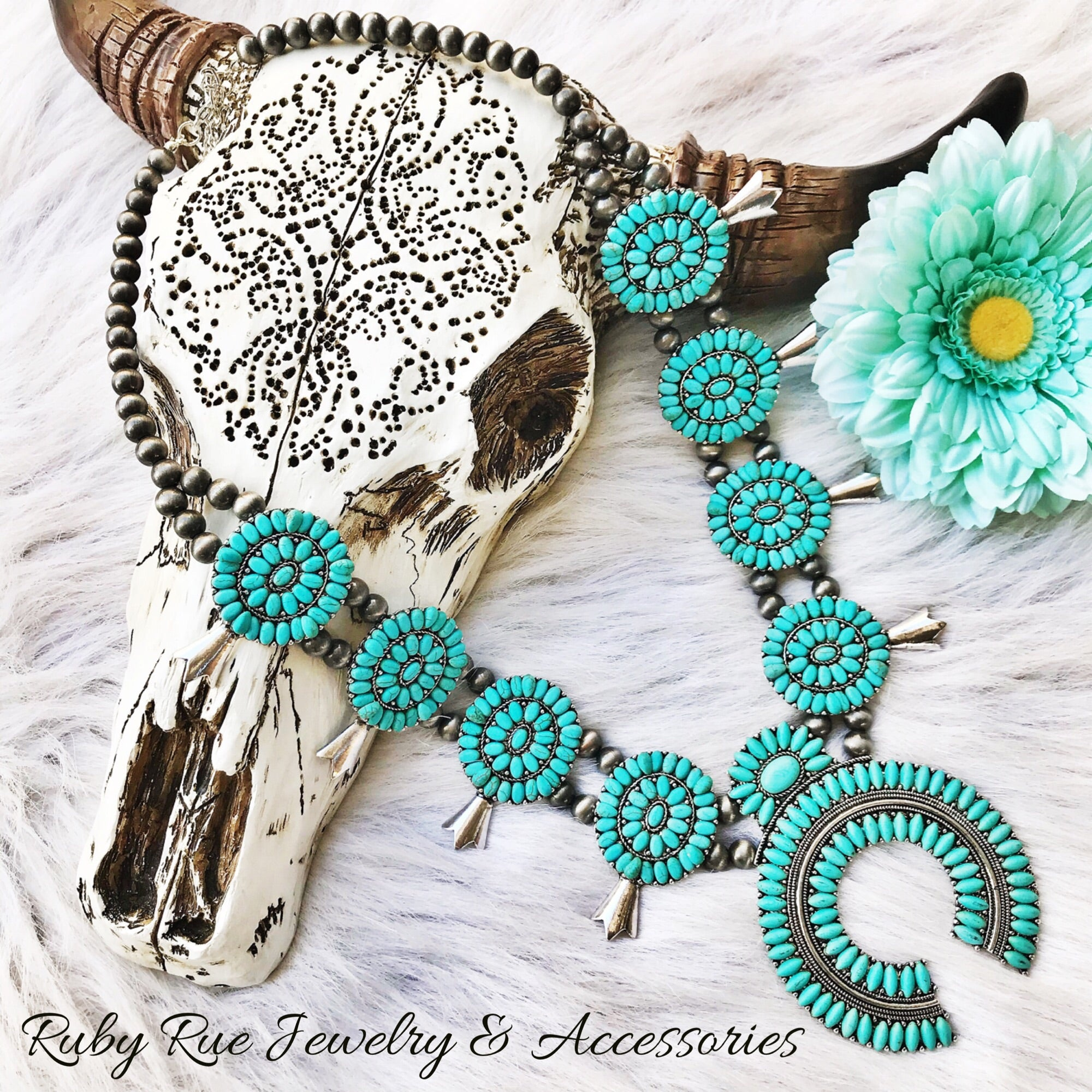 Vintage Inspired Turquoise Squash - Ruby Rue Jewelry & Accessories