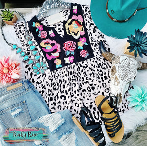 Tipton Embroidered Leopard Tank
