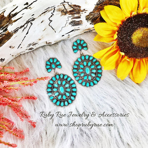 Big as Texas Turquoise Earrings - Ruby Rue Jewelry & Accessories
