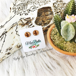 Wooden Cactus Earrings - Ruby Rue Jewelry & Accessories