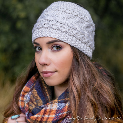 Taupe Head Wrap - Ruby Rue Jewelry & Accessories