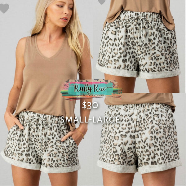 Leopard Lounge Shorts - Ruby Rue Jewelry & Accessories