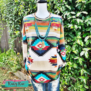 Sunset Dreamin' Aztec Tunic - Ruby Rue Jewelry & Accessories