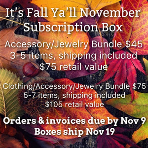 November Accessory/Jewelry Subscription Box - Ruby Rue Jewelry & Accessories