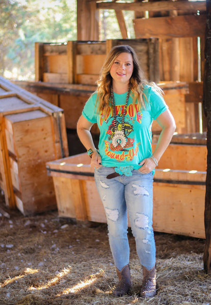 Cowboy Round Up Tee - Ruby Rue Jewelry & Accessories