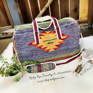 Large Aztec Weekender - Ruby Rue Jewelry & Accessories