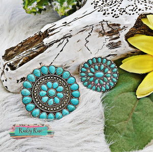 Turquoise Concho Pins
