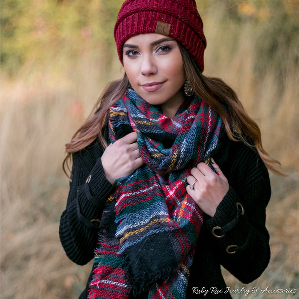 Deck the Halls Blanket Scarf - Ruby Rue Jewelry & Accessories