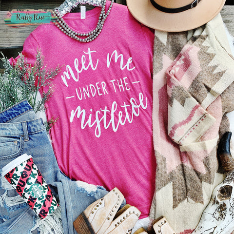 Meet Me Under The Mistletoe Tee - Ruby Rue Jewelry & Accessories