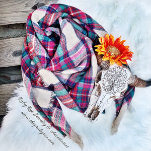Plum Blanket Scarf - Ruby Rue Jewelry & Accessories