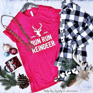 Run Run Reindeer Tee - Ruby Rue Jewelry & Accessories