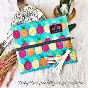 Pineapple Makeup Junkie Brand Bag - Ruby Rue Jewelry & Accessories