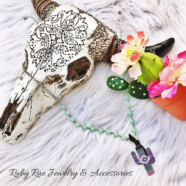 Cheeky's Aztec Cactus Necklace - Ruby Rue Jewelry & Accessories