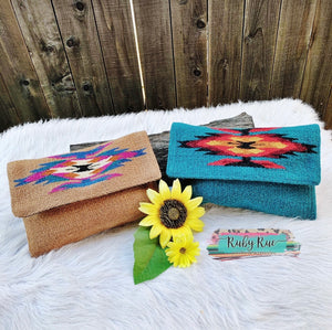 Western Aztec Clutch - Ruby Rue Jewelry & Accessories