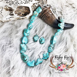 Chunky Turquoise Necklace Set - Ruby Rue Jewelry & Accessories