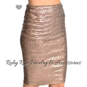 Vegas Nights Sequin Skirt - Ruby Rue Jewelry & Accessories