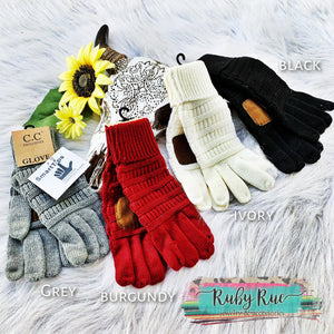 Smart Touch CC Gloves - Ruby Rue Jewelry & Accessories
