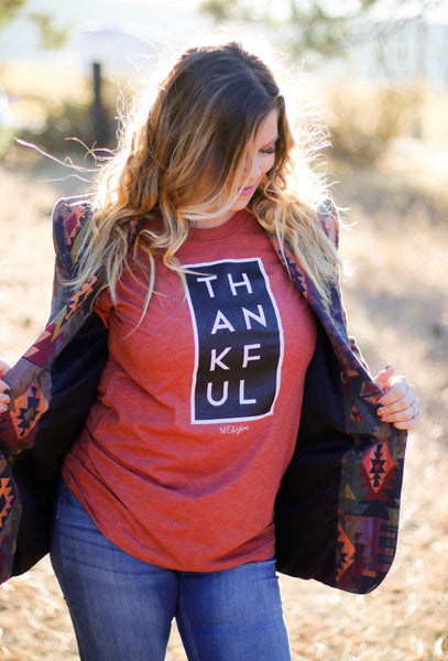 THANKFUL Tee - Ruby Rue Jewelry & Accessories