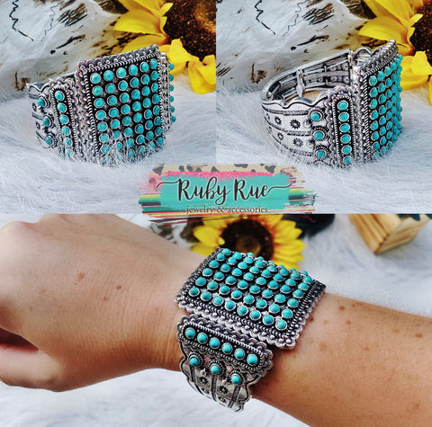 The Sage Turquoise Stretch Cuff