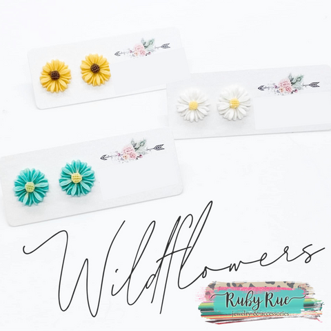 Handmade Daisy Earrings - Ruby Rue Jewelry & Accessories