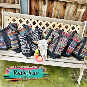 Large Serape Totes - Ruby Rue Jewelry & Accessories