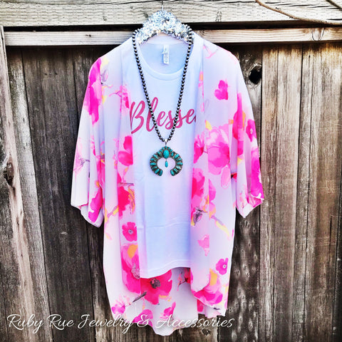 Neon Floral Kimono - Ruby Rue Jewelry & Accessories