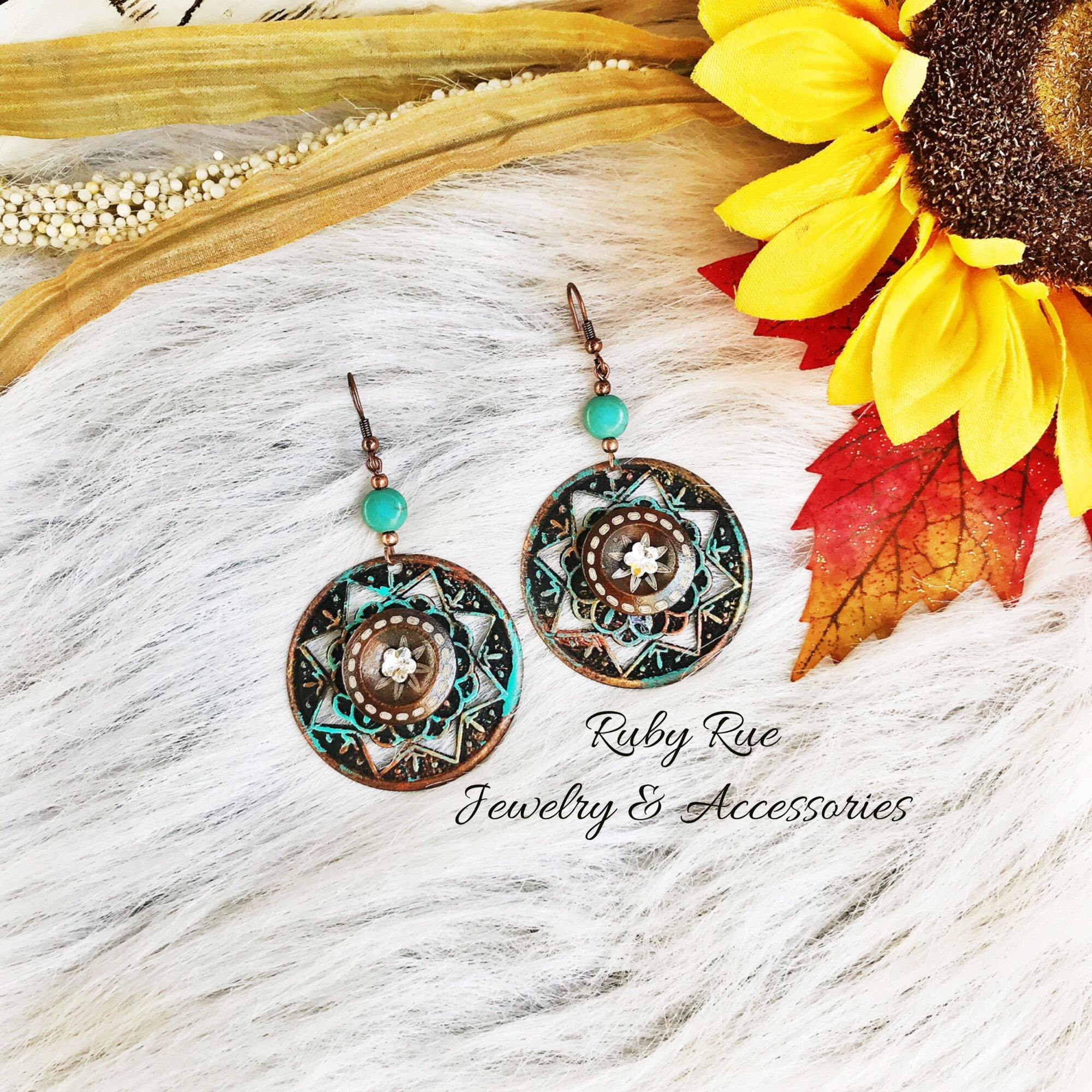 Western Bling Earrings - Ruby Rue Jewelry & Accessories
