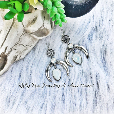 Antique Silver Squash Earrings - Ruby Rue Jewelry & Accessories
