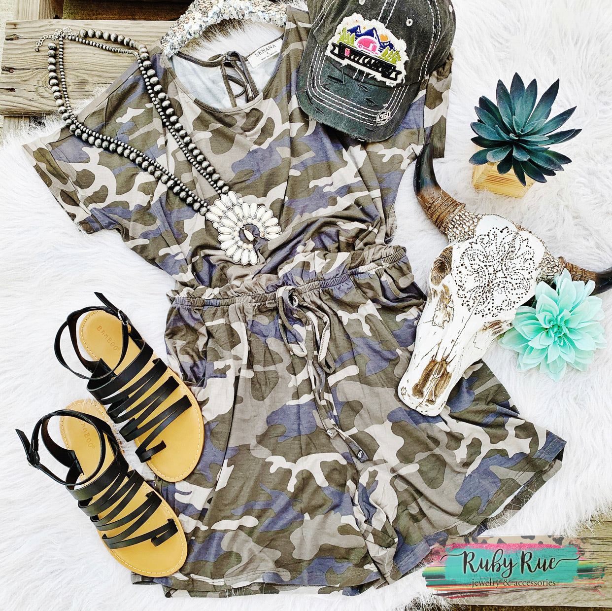 Dusty Camo Romper