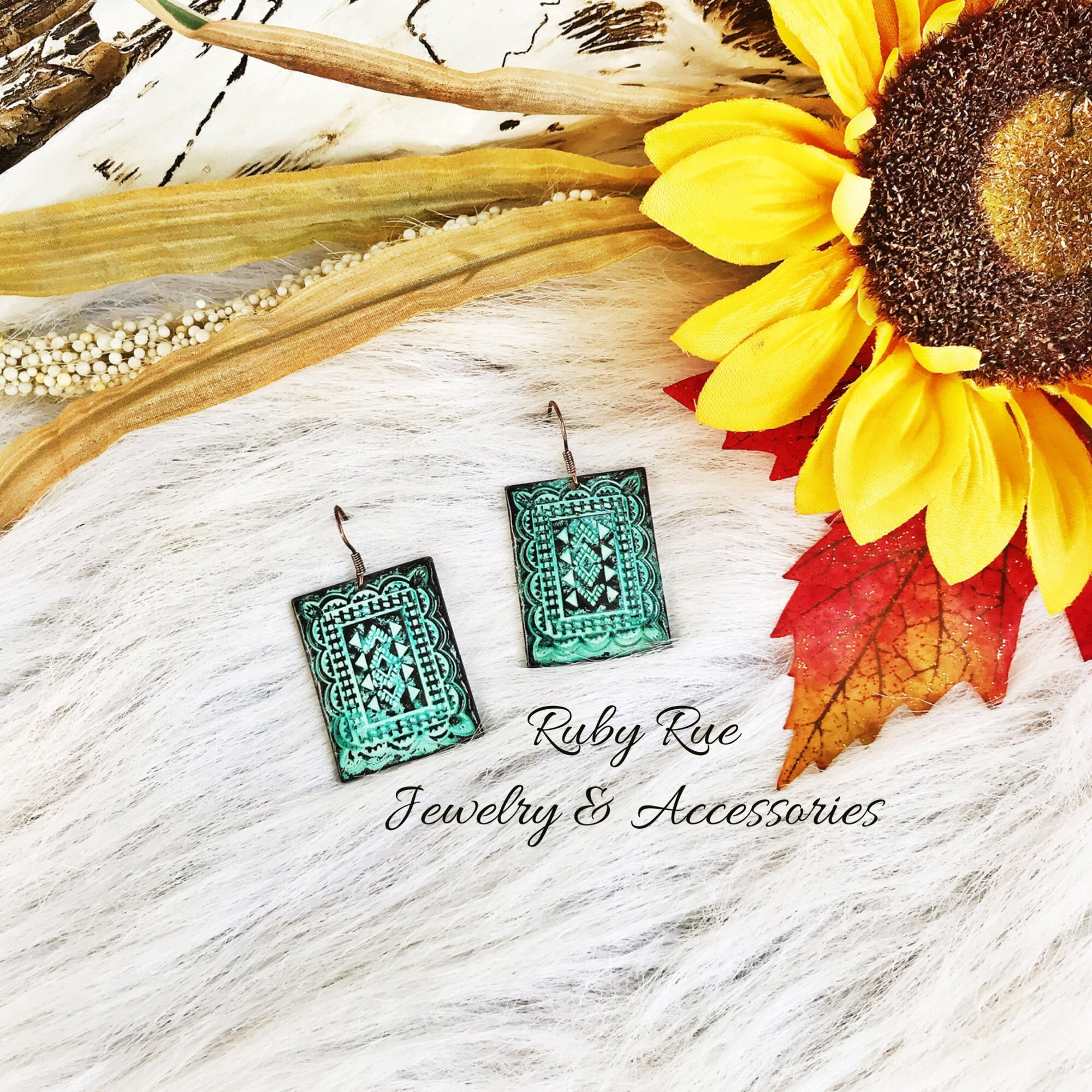 Ol' Patina Earrings - Ruby Rue Jewelry & Accessories