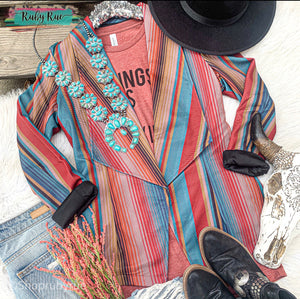 Blaze Your Trail Serape Blazer