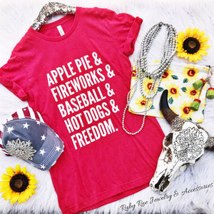 Apple Pie & Freedom Tee - Ruby Rue Jewelry & Accessories