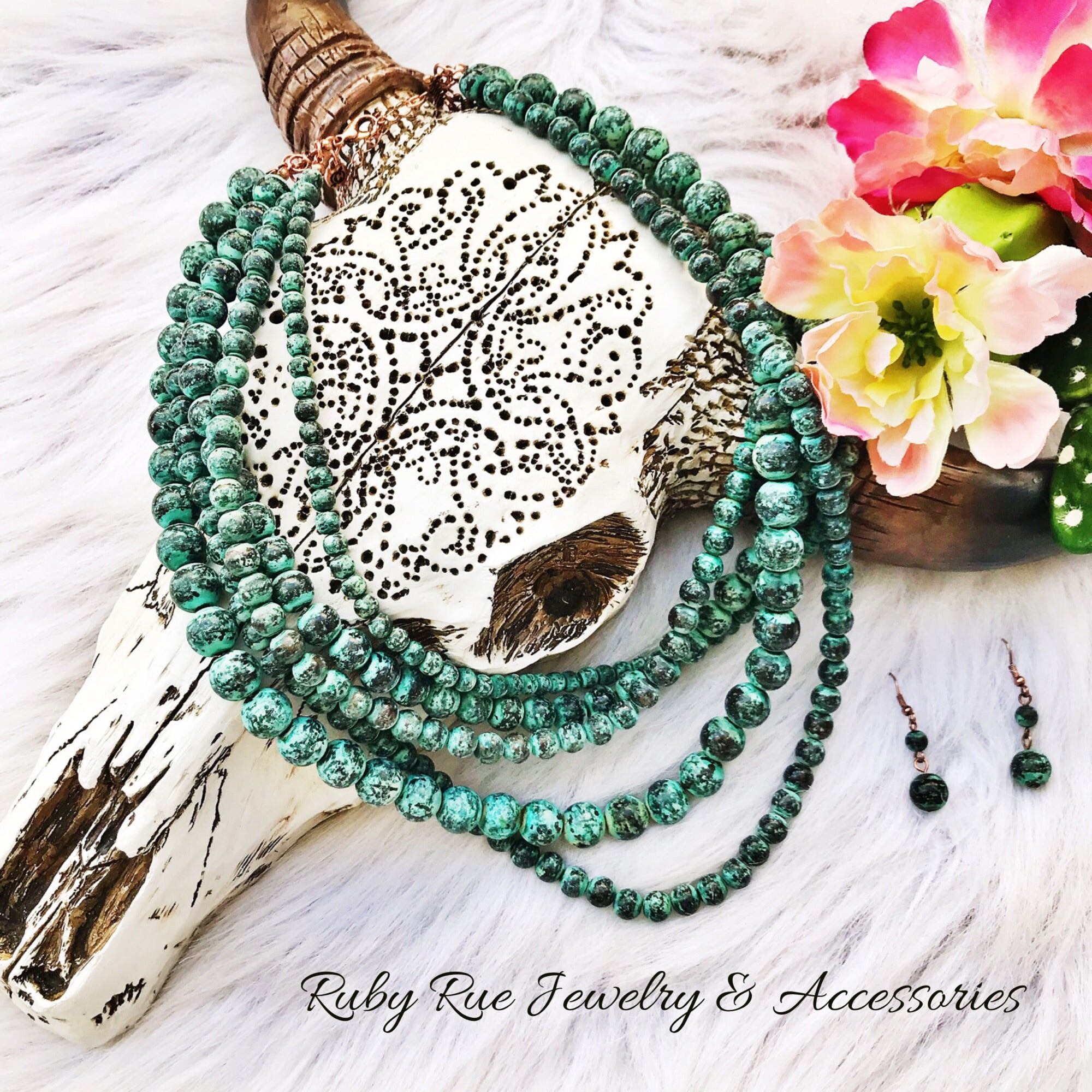 Cheeky's Patina Necklace Set - Ruby Rue Jewelry & Accessories