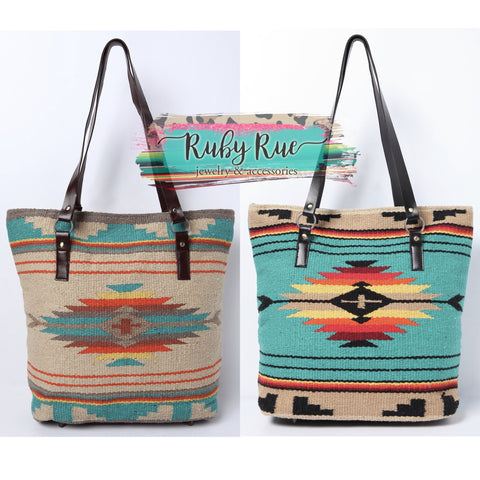 The River Aztec Tote - Ruby Rue Jewelry & Accessories