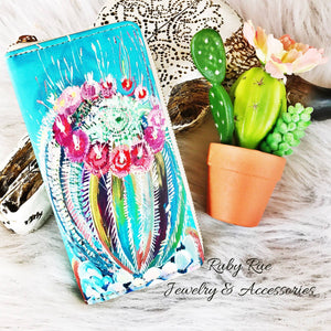 Pastel Cactus Wallet - Ruby Rue Jewelry & Accessories
