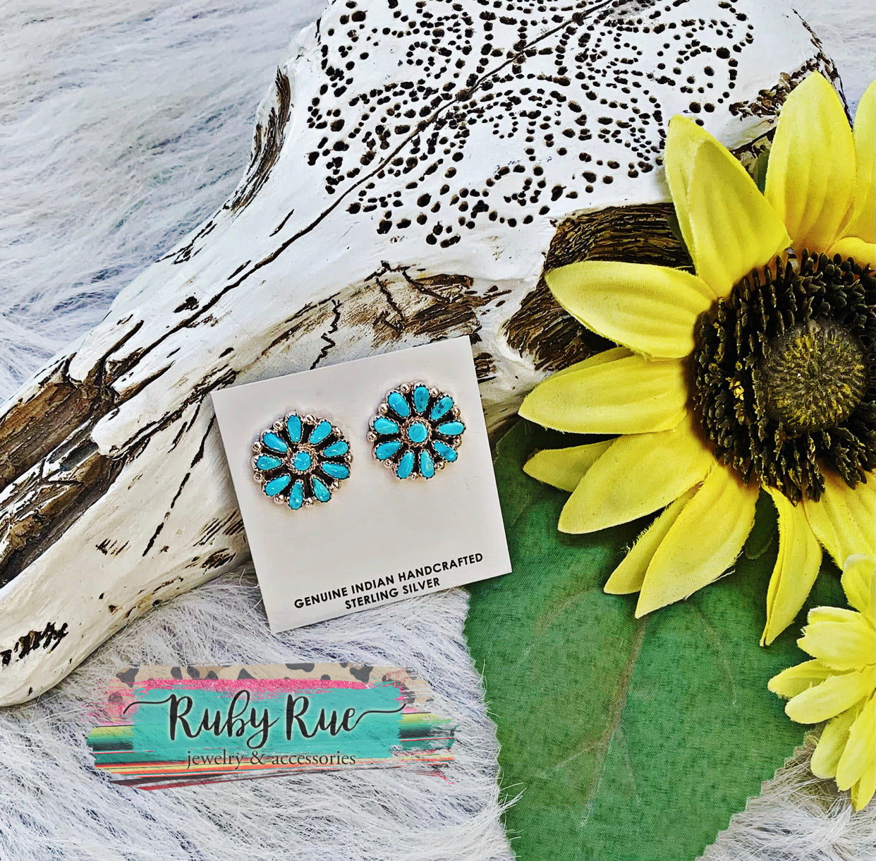 Authentic Turquoise & Sterling Silver Earrings
